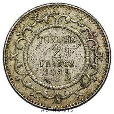 2 francs 1915 A Paris Tunisie - Argent