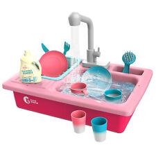 Kinderküche Spielküche Waschbecken Spielzeug Küche Geschirrspüler für Kinder DE