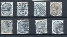 Gb Victorian 8x fine used Sg 187 1/2d Blue As scan