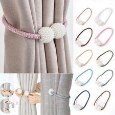 2Pcs Magnetic Pearl Beads Curtain Tiebacks Tie Backs Buckle Clips Holdbacks