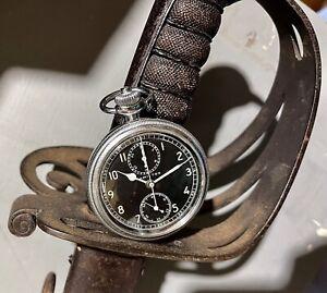 .1940s WWII Hamilton Chronograph Model 23 16s 19 Jewel Pocket Watch