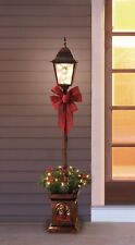 Christmas Victorian Lamp Post Holiday Pre-Lit Clear Lighted 4' Porch Deck Light