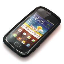 TPU Cover Case Hulle Hoesje Samsung Galaxy Mini 2 GT-S6500 Black Schwarz Zwart