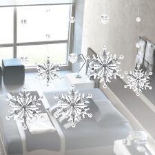 2pc Acrylic Crystal Snowflake Bead Garland Curtain Home Wedding Party Decorat TP