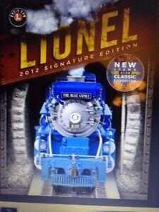 Lionel 2012 Signature Édition Catalogue en Stock Aujourd'Hui