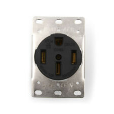 50A 125-250V Industrial Grade NEMA 14-50R Straight Blade US Four Holes Socket Gy