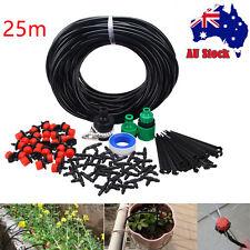 25m DIY Micro Drip Irrigation System Plant Self Watering Garden Hose Kits AU