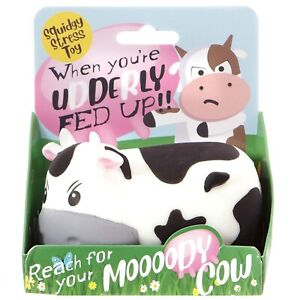 Moody Cow Stress & Anxiety Relief Toy Boys Girls Funny Secret Santa Gift for Her
