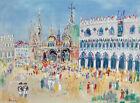 FRAMED CANVAS Art print Jean dufy Venise Venice Italy