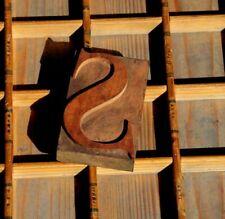 New Listingletter S Rare Wood Type Letterpress Printing Block Woodtype Font Antique Print
