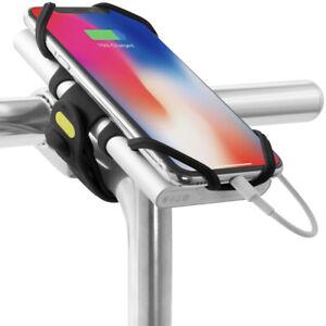 Bone Original Bike Tie Pro Pack 2-in-1 Bike Stem Mount Phone Charger Holder- BLK