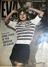"""* EVA N°24/ 10/GIU/1950 * Rivista per la donna italiana diretta da """" Sonia """" *"""