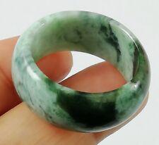 Jade Men Ring Size 11.5 Jadeite Round Natural Pure Burmese Light Dark Green Fine
