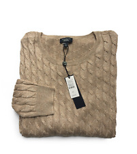 Womens Petite TALBOTS Cable Knit Metallic Gold Sweater NWT $109