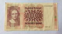 Billet 100 Kroner 1987