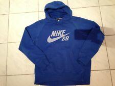 NIKE Kaputzen Sweatshirt Blau Größe M