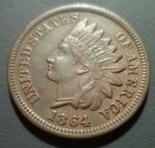 UNC BU PQ 1864 64/64 Bronze Indian Head Cent Snow 7 S-7 Scarce Error RPD w65