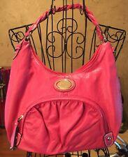 STRADA Hobo Handbag Raspberry Pink Purse Handbag