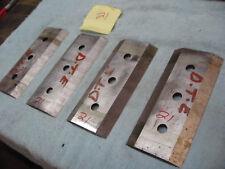"chipper blades, 4 piece,   good edges, 7-1/4 x 3-1/4  x 3/8""ref 21"