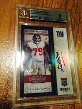 2013 Contenders Damontre Moore #1/1 championship ticket AUTO RC #126 BGS MINT 9