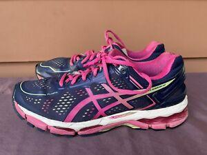 Asics Gel-Kayano 22 Women US 11 Running Shoes Navy Blue Pink T597N D5