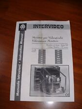 MANUALE  ELETTRONICA MONITOR   INTERVIDEO  jamma