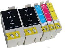 5 CARTUCCE COMPATIBILI EPSON S-T 2711XL WorkForce WF 3620DWF WF 7620DTWF  7610DW