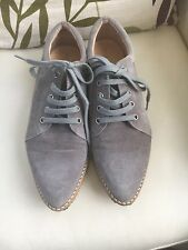Grey mint velvet trainers Size 6