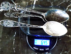 ANTIQUE STERLING SILVER SPOON LOT 64 5G BEAUTIFUL DESIGNER SPOONS 925
