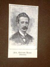 Deputato nel 1886 Onorevole Avvocato Giuseppe Reale di Siracusa