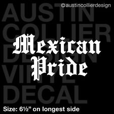 """6.5"""" MEXICAN PRIDE vinyl decal car window laptop sticker - mexico native gift"""