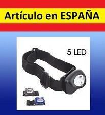 FRONTAL luz 5 LED running correr camping deporte cabeza soporte linterna lampara