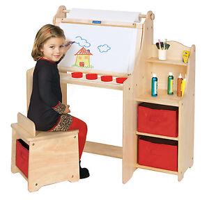 Guidecraft G51032 Kids Artist Activity Desk for boys and girls chldren's artwork