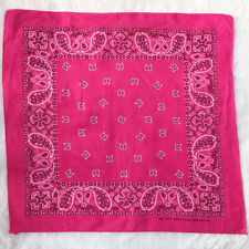 Vtg Wamcraft Handkerchief Cotton HOT PINK Biker Bandana Neckscarf Head Scarf USA
