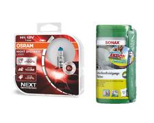 OSRAM H1 NightBreaker Laser +150% +Sonax Reinigungstücher +Microfasertuch PLUS