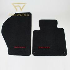 83600-S2A-A01ZA Genuine Honda Floor Mat Pair Black w/ Red 02-09 S2000