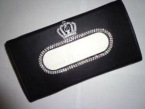 Sun Visor Leather Crystal Tissue Box Cover Case Holder Auto