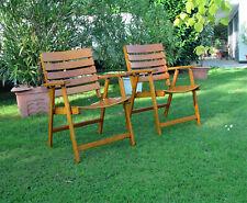 original HERLAG Belair Gartenstühle 2 Stück zusammenklappbar