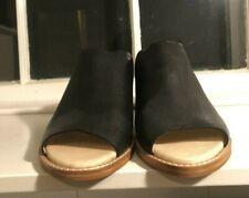 Dolce Vita Black Leather Open Toe Mule Size 9