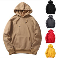 Mens Hooded Hoodies Casual Loose Sweatshirts Streetwear Pullover Tops