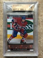 13-14 UD Serie 1 RC Rookie Young Guns #203 ALEX GALCHENYUK Graded BGS 10