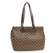 LOUIS VUITTON Damier Ebene Parioli PM Tote Bag N51123 LV Auth 16019
