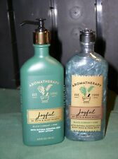 Bath & Body Works Aromatherapy Black Currant Pine 6.5 oz LOTION & 10oz WASH NEW