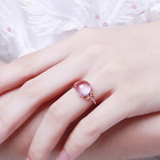 Rose Gold Color Stone Clear Crystal Cluster Butterfly Finger Ring for Women HO3