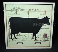Vintage Style Postcard Cow Clip Memo Message Board
