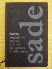 Club The Book French Sade Justine 1961 725 Pages