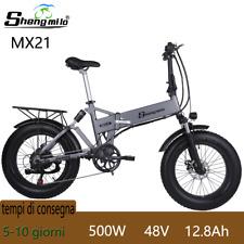 """20"""" Bicicletta Fat E-Bike Pieghevole 48V 500W 40km/h Bici ciclomotore Elettrica"""