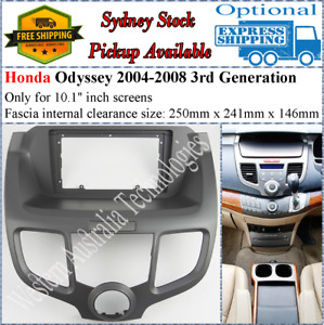 For 10 Ten Inch Screen Fascia facia Fits Honda Odyssey 2004-2008 3rd Generation