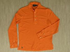 Polo Ralph Lauren Orange Rugby Shirt Men's Size M Long Sleeve Polo Featherweight
