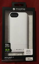 Authentic Mophie Juice Pack Air 1700 mAh Battery Case for iPhone 5 / 5s - White